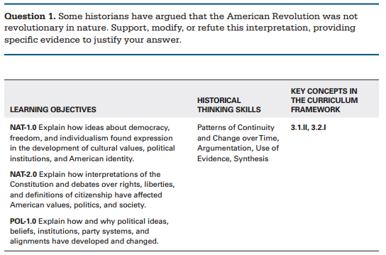 exam help apush tag a good response to this question will support modify or refute the interpretation that the american revolution was not revolutionary in nature an essay